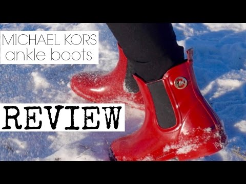 MICHAEL KORS Ankle Boots Unboxing and Review//PEARLYAO