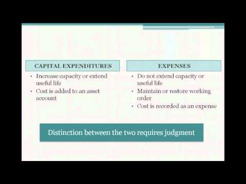 how to accrue for capital expenditure