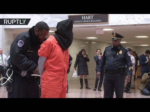 В США полиция задержала «заключённых» Гуантанамо (видео)