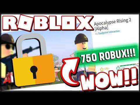ZA 750 ROBUXŮ? TOHLE JE NEJLEPŠÍ SURVIVAL HRA V ROBLOXU! - Apocalypse Rising 2