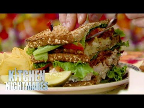 Gordon Struggles To Eat A GIANT Sandwich   Kitchen Nightmares