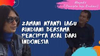 Zamani menyanyikan lagu Rindiani secara santai @ backstage di Bandung