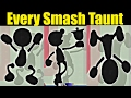 What If Mr. Game & Watch Could Do EVERY CHARACTER'S TAUNT In Super Smash Bros Wii U (SMASH 4 MODS)