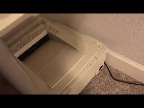 How To install old HP laser jet printer with Jet Direct  to modern windows 10 on Ethernet Cable LAN