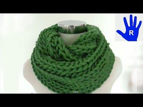Stricken – Loop oder Schal im Patentmuster aus hatnut cool