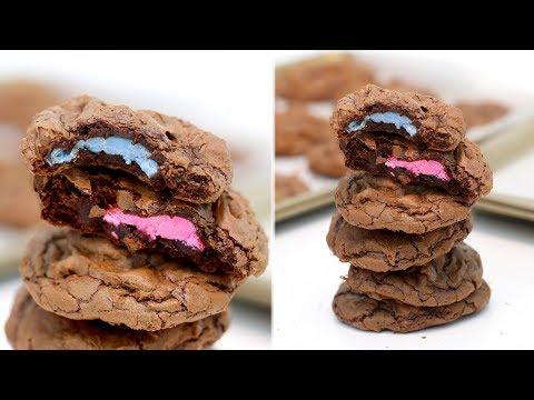 Gender Reveal Chocolate Chip Cookies | Brownie Cookies | EASY Double Chocolate Chip Cookies | RECIPE