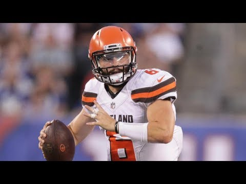 Baker Mayfield QB Cleveland Browns Film review featuring coach Chris Parker