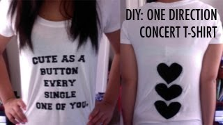 DIY: One Direction Concert T-Shirt - YouTube