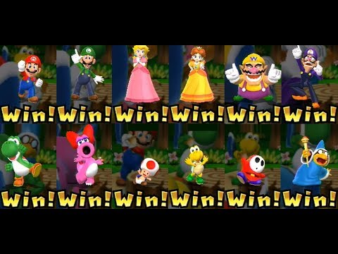 Mario Party 9 ◆ All Characters Win and Lose Animations