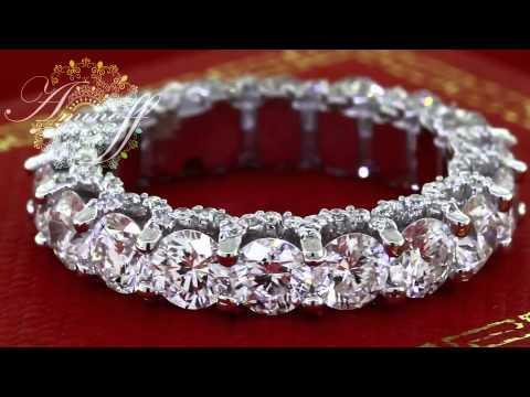 6.00CT DIAMOND ETERNITY WEDDING BAND RING ROUND CUT DIAMONDS 14K WHITE GOLD