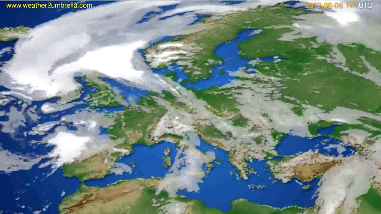 Cloud forecast Europe // modelrun: 12h UTC 2019-06-04