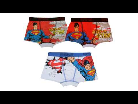 Wholesale Official Superman Boxer Shorts Mixed 2-8 Years