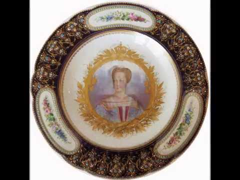 SEVRES STYLE PORCELAIN FRENCH ANTIQUE PLATES VERY BEAUTIFUL