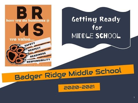 Welcome to BRMS Fall 2020!