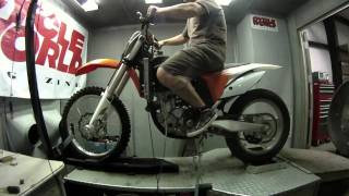 3. KTM 350 SX-F on the Dyno