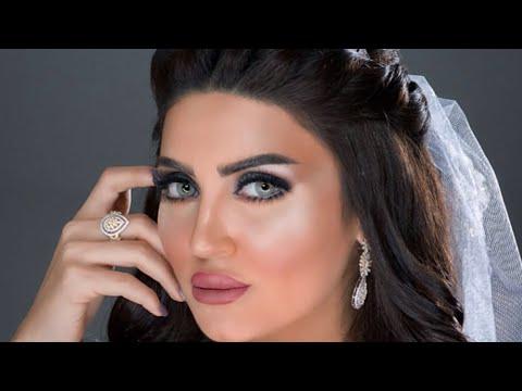مكياج عروس سموكي مع قلتر مع اخفاء تاتو الحواجب/bridal makeup with glitter smokey look (видео)