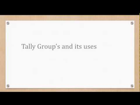 tally groups and its uses