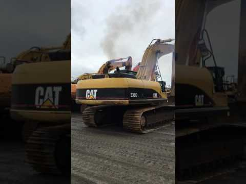CATERPILLAR EXCAVADORAS DE CADENAS 330CL equipment video jwK4sHJm4K8