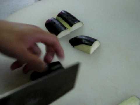 中華料理レシピ ナスの切り方作り方 今日の簡単中華料理教室