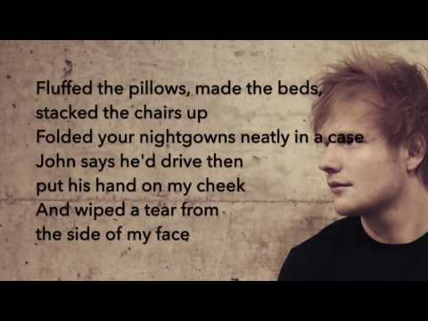 Ed Sheeran - Supermarket Flowers / LYRICS