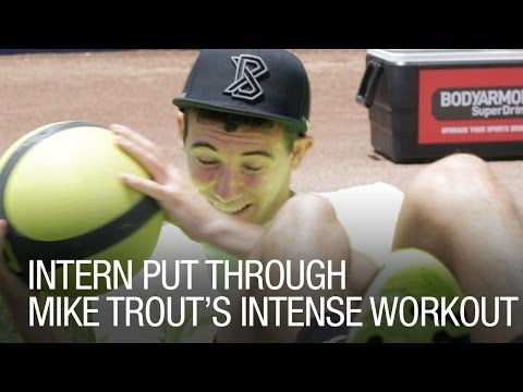 trouts - Watch ThePostGame.com Intern Alex get put through a workout by Mike Trout's trainer. Can the intern keep up with the Angels' slugger? Check out more great st...