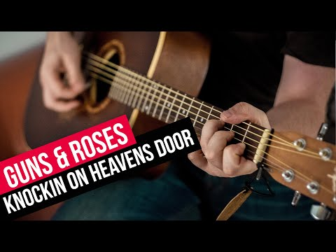 COMO TOCAR GUITARRA ACORDES KNOCKIN ON HEAVENS DOOR GUNS AND ROSES ACUSTICA FACIL APRENDE GUITARRA