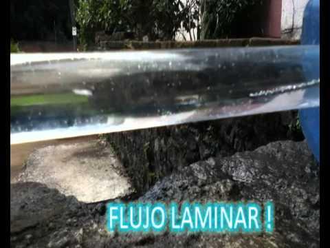 laminar - Un video donde se experimenta y se demuestran los flujos Laminar, de transicion y Turbulento... De a cuerdo con los numeros de reynolds establecidos. Nota: m...