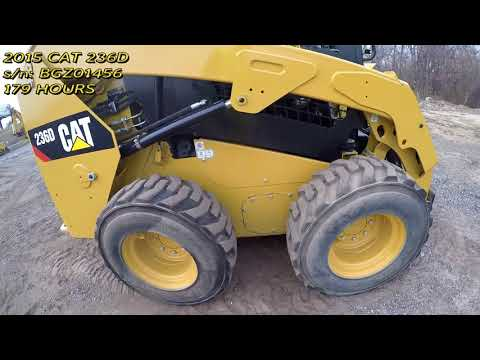 CATERPILLAR スキッド・ステア・ローダ 236D equipment video jwidirRCVF8