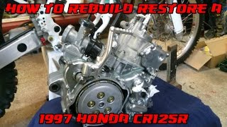 8. HOW TO REBUILD A 1997 Honda CR125 BETTER THAN NEW / Restoration Rebuild / DirtBikeDudeZ