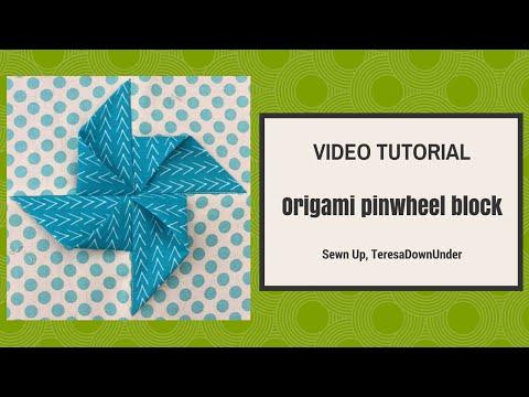 blocco in patchwork con origami
