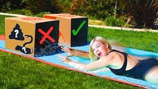 Video DON'T Water Slide Through The Wrong MYSTERY BOX! // SoCassie MP3, 3GP, MP4, WEBM, AVI, FLV Januari 2019