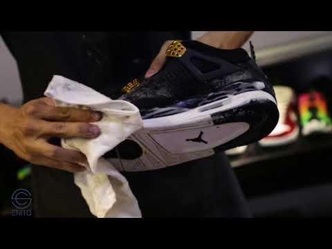 Vệ sinh giày JD 4s Royalty dính xi măng???