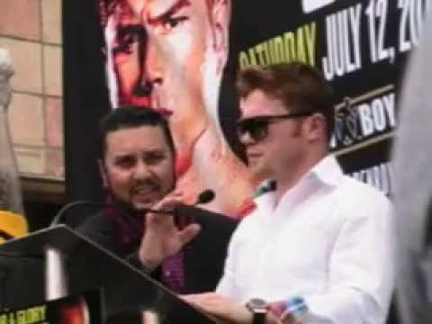SAUL CANELO ALVAREZ AT THE SAN ANTONIO PRESS CONFERENCE