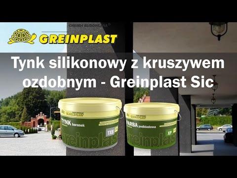 Tynk silikonowy z kruszywem ozdobnym - Greinplast Sic