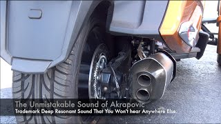 8. 2014 Can-Am Spyder Akrapovic slip-on and Secondary Muffler Delete Pipe