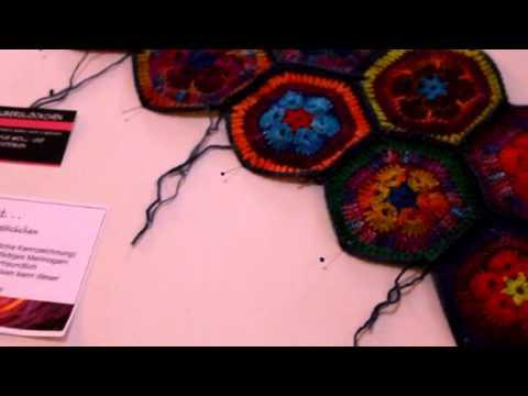 Twizzle African Flower Decke gehäkelt