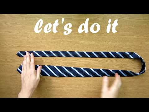 How to Tie a Tie on table - FULL (Double) WINDSOR knot