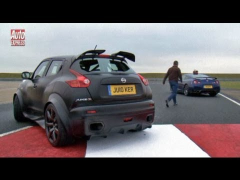 nissan - We pit the new Nissan Juke-R against the GT-R Subscribe to our YouTube channel http://bit.ly/11Ad1j1 Subscribe to the mag http://subscribe.autoexpress.co.uk/yt.