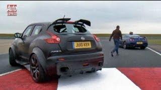 Nissan Juke-R vs GT-R track test - Auto Express