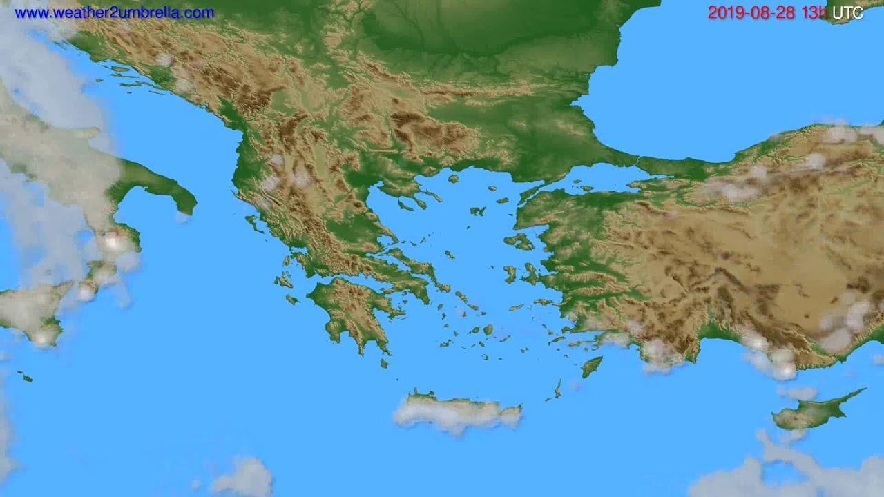 Cloud forecast Greece // modelrun: 12h UTC 2019-08-26