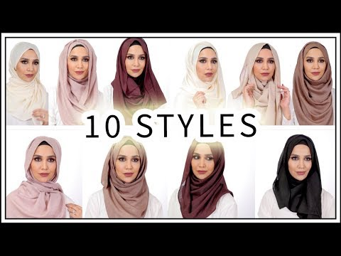 MY NEW SCARF LINE! | 10 Tutorials With Hijabs + Hoojabs | Amena