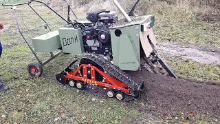 Гусеницы Крутец - работа по земле