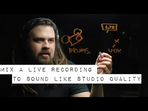 How to Mix a Live Recording to Sound Like Studio Quality (Having Depth and Fullness)