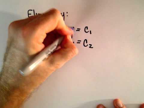 Cramer  's Regel: Ein Proof / Begründung für ein System von 2 linearen Gleichungen, 2 Unbekannte