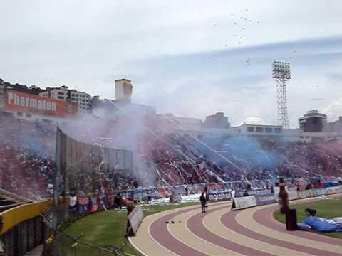 RECIBIMIENTO DE LA GLORIOSA   MAFIA  AZUL GRANA - Mafia Azul Grana - Deportivo Quito