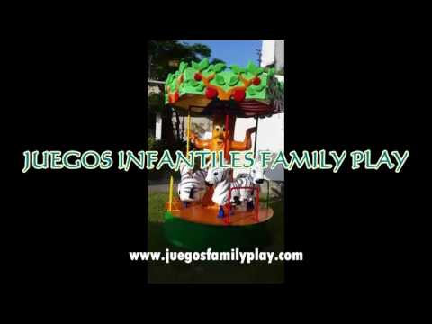 Carrusel infantil para niños Juegos Infantiles Recreativos Family Play
