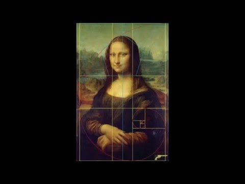 Mona Lisa Fibonacci Numbers! Golden Ratio, Rectangle & Phi 1.618 Spiral in Leonardo da Vinci's Art (видео)