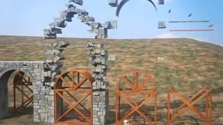 Un acueducto romano en 3D