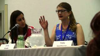 """The full """"Fighting Sexism on YouTube"""" Industry panel at Vidcon 2014. Rosianna Halse Rojas: http://www.youtube.com/missxrojas Laci Green: http://www.youtube.com/lacigreen Trisha Hershberger: http://www.youtube.com/nerdychick5 Emily Graslie: http://www.youtube.com/TheBrainScoop Alli Speed: http://www.youtube.com/Alli Liam Dryden: http://www.youtube.com/littleradge Hazel Hayes: http://www.youtube.com/ChewingSand You are watching my secondary channel, where I upload my unedited footage. For edited videos, see my main channel: http://www.youtube.com/AdamTheAlien --My website: http://www.AdamTheAlien.com"""