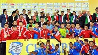 Nepali Football team receive heroic welcome after Winning  Bangabandhu Gold Cup Final